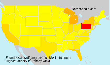 Surname Wolfgang in USA