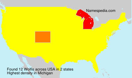 Surname Wolfis in USA