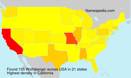 Surname Wolfsberger in USA
