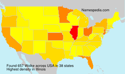 Surname Wolke in USA