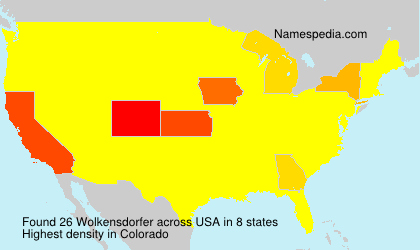 Surname Wolkensdorfer in USA