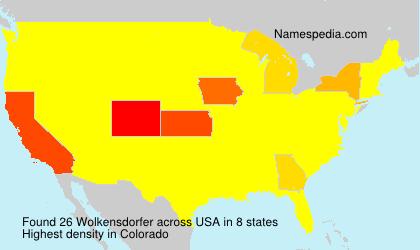 Surname Wolkensdorfer in USA