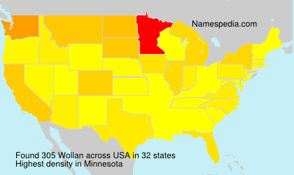 Surname Wollan in USA