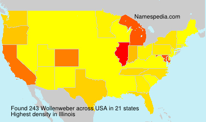 Surname Wollenweber in USA