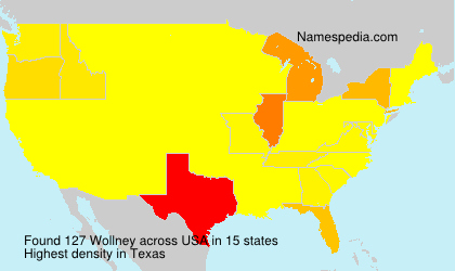 Surname Wollney in USA
