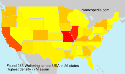 Surname Woltering in USA