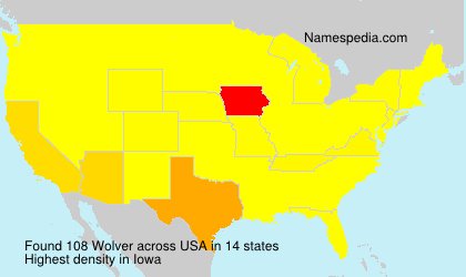 Surname Wolver in USA
