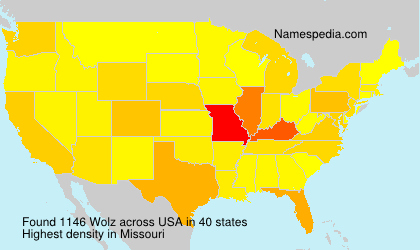 Surname Wolz in USA
