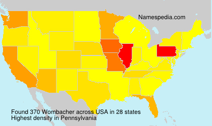 Surname Wombacher in USA