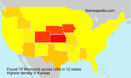 Surname Womochil in USA