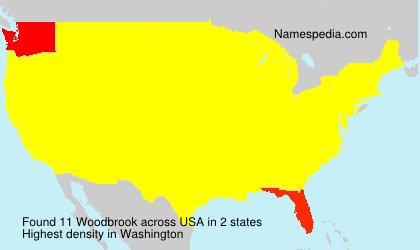 Surname Woodbrook in USA