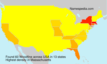 Surname Woodfine in USA