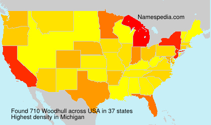 Surname Woodhull in USA