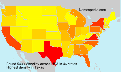 Surname Woodley in USA
