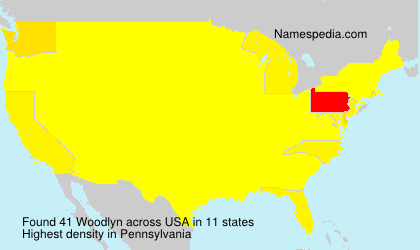 Surname Woodlyn in USA