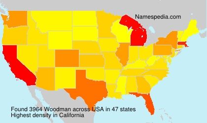 Surname Woodman in USA