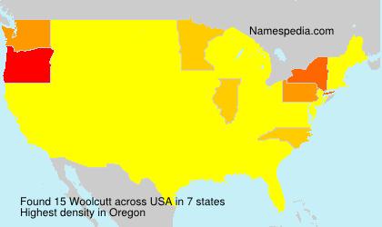 Familiennamen Woolcutt - USA