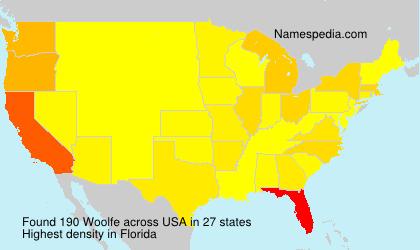 Familiennamen Woolfe - USA