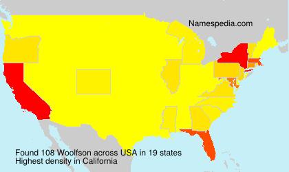 Surname Woolfson in USA