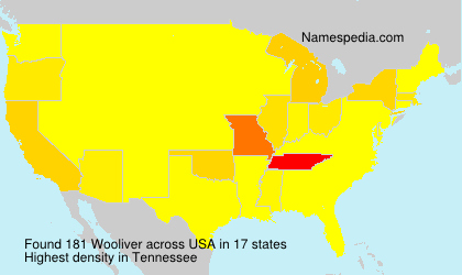 Surname Wooliver in USA