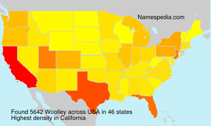 Surname Woolley in USA
