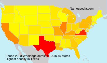 Familiennamen Woolridge - USA
