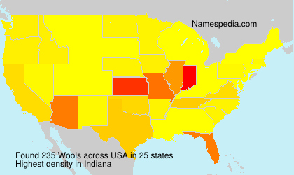 Surname Wools in USA