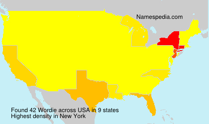 Surname Wordie in USA