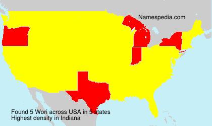 Surname Wori in USA