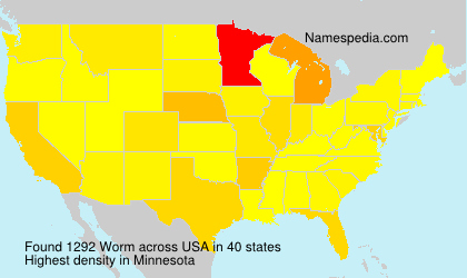 Surname Worm in USA