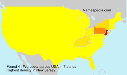 Familiennamen Worobetz - USA