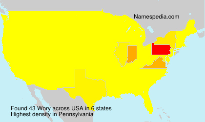 Surname Wory in USA