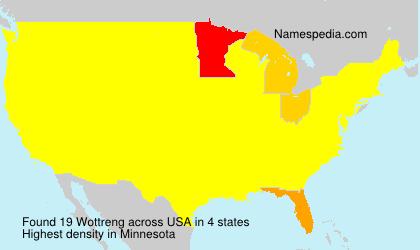 Surname Wottreng in USA