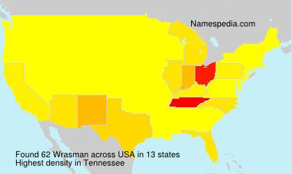 Surname Wrasman in USA