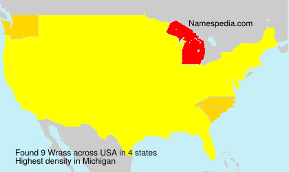 Surname Wrass in USA