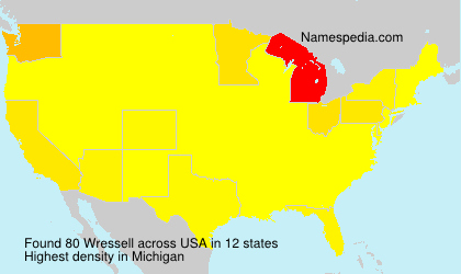 Surname Wressell in USA