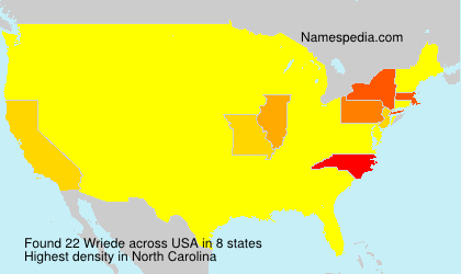 Surname Wriede in USA