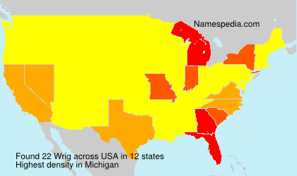 Surname Wrig in USA
