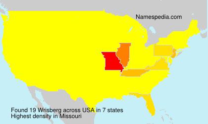Surname Wrisberg in USA