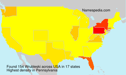 Surname Wrubleski in USA