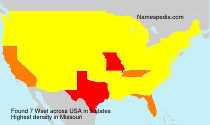 Familiennamen Wset - USA