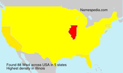 Familiennamen Wsol - USA