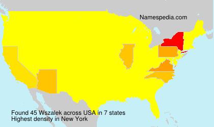 Familiennamen Wszalek - USA