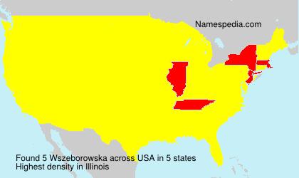 Familiennamen Wszeborowska - USA