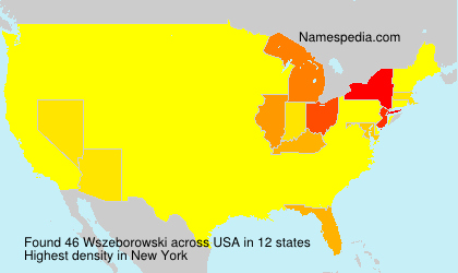 Familiennamen Wszeborowski - USA