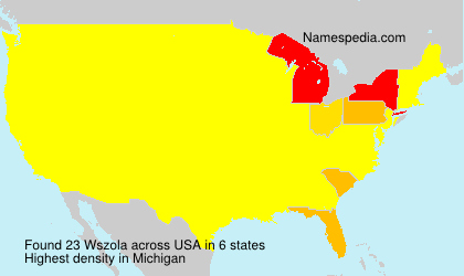 Familiennamen Wszola - USA