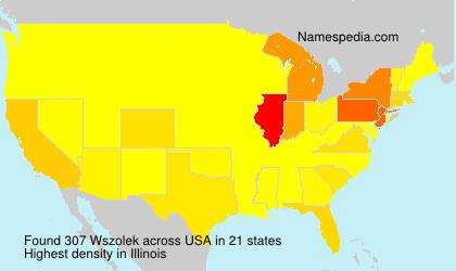 Familiennamen Wszolek - USA