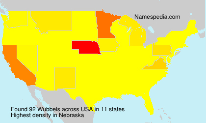 Surname Wubbels in USA