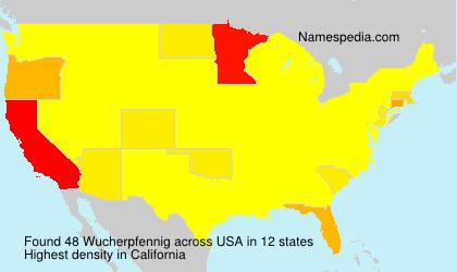 Surname Wucherpfennig in USA