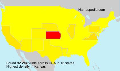 Surname Wulfkuhle in USA